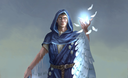 Corjof, mage for the Ice faction
