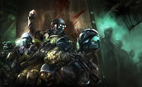 DHQS soldiers cleaning up a nest of zombies